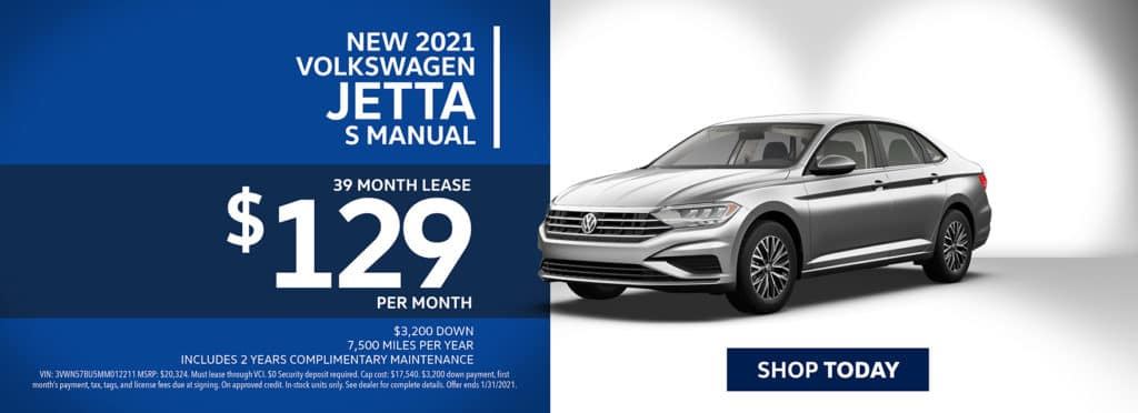 New 2021 Volkswagen Jetta S Manual