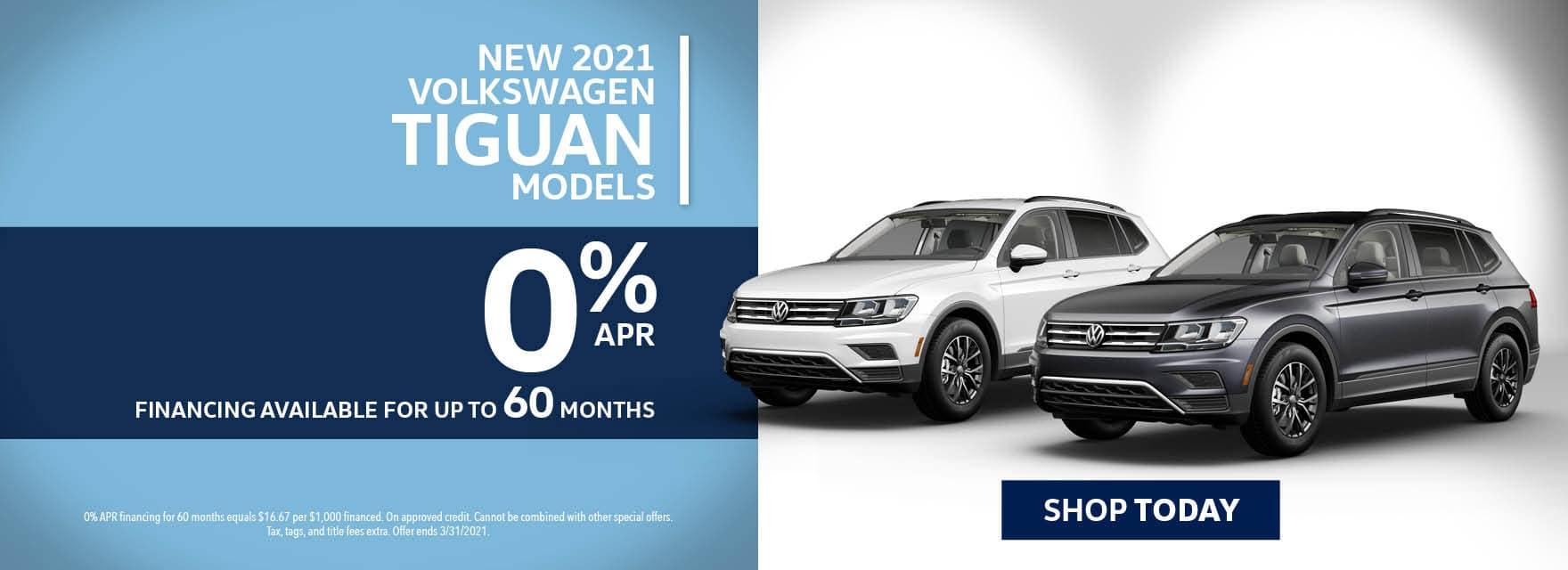 New 2021 VW Tiguan