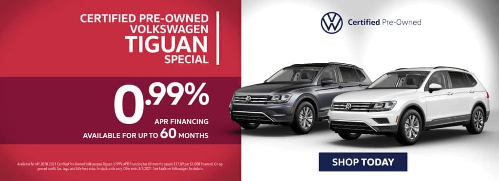 Certified Pre-Owned Volkswagen Tiguan Special