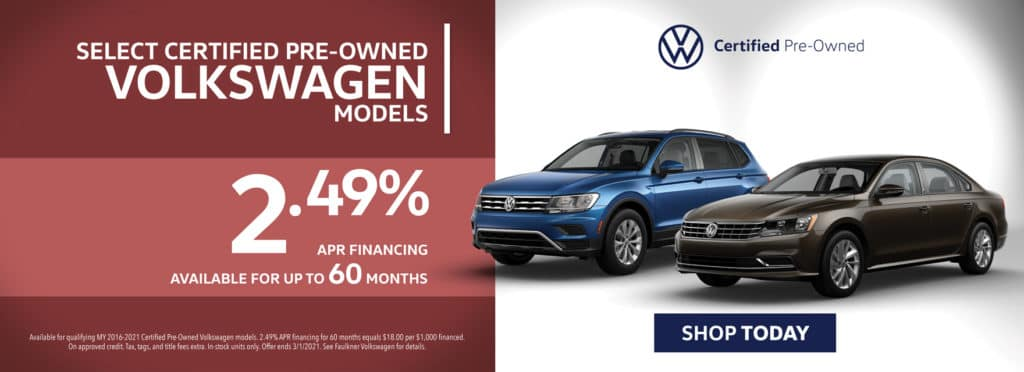 2.49% Financing on Select Certified Pre-Owned