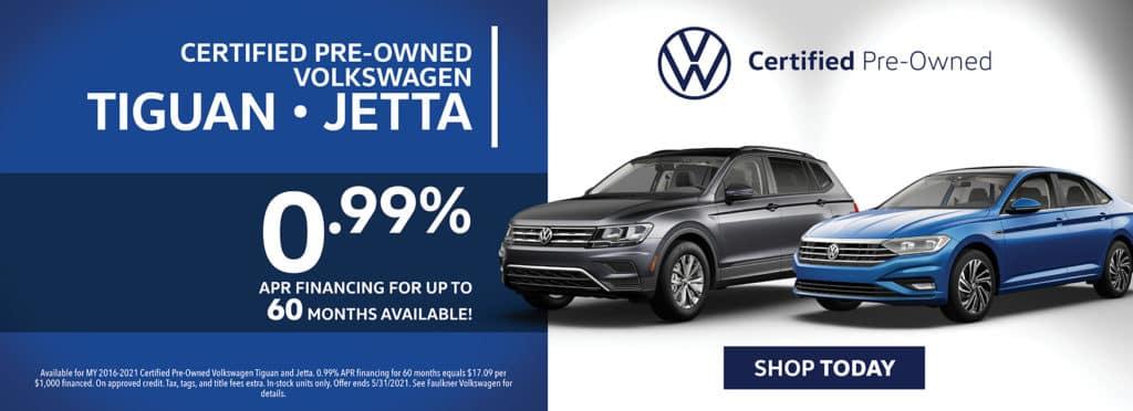Certified Pre-Owned Volkswagen Tiguan & Jetta