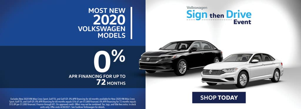 0% Financing on Most New 2020 Models