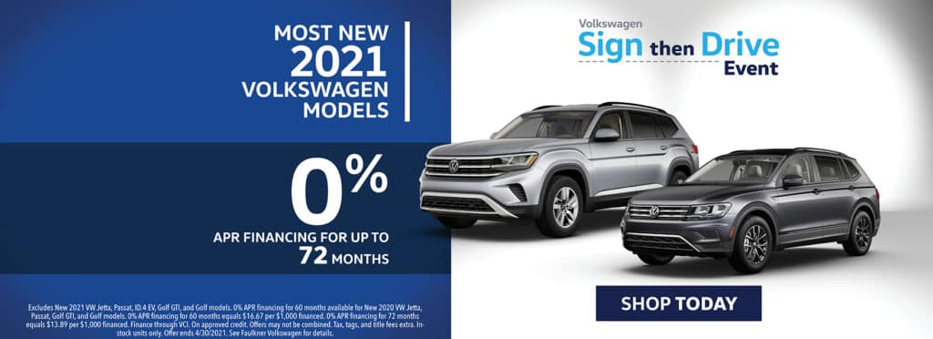 0% Financing on Most New 2021 Models