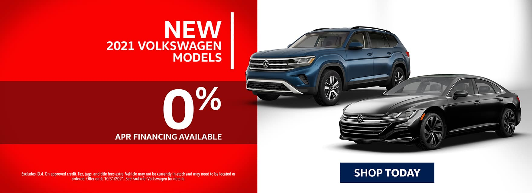 0% Financing New 2021 Volkswagen