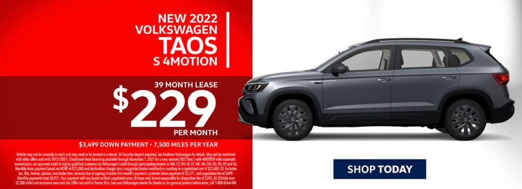 New 2022 Volkswagen Taos
