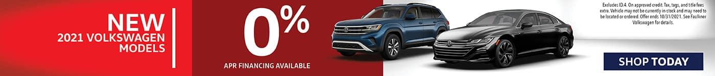 0% Financing on New 2021 Volkswagen