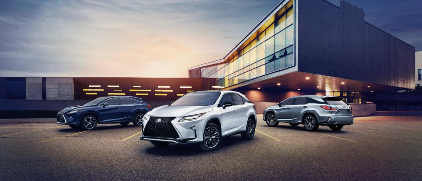 2019 Lexus RX trims parked at night