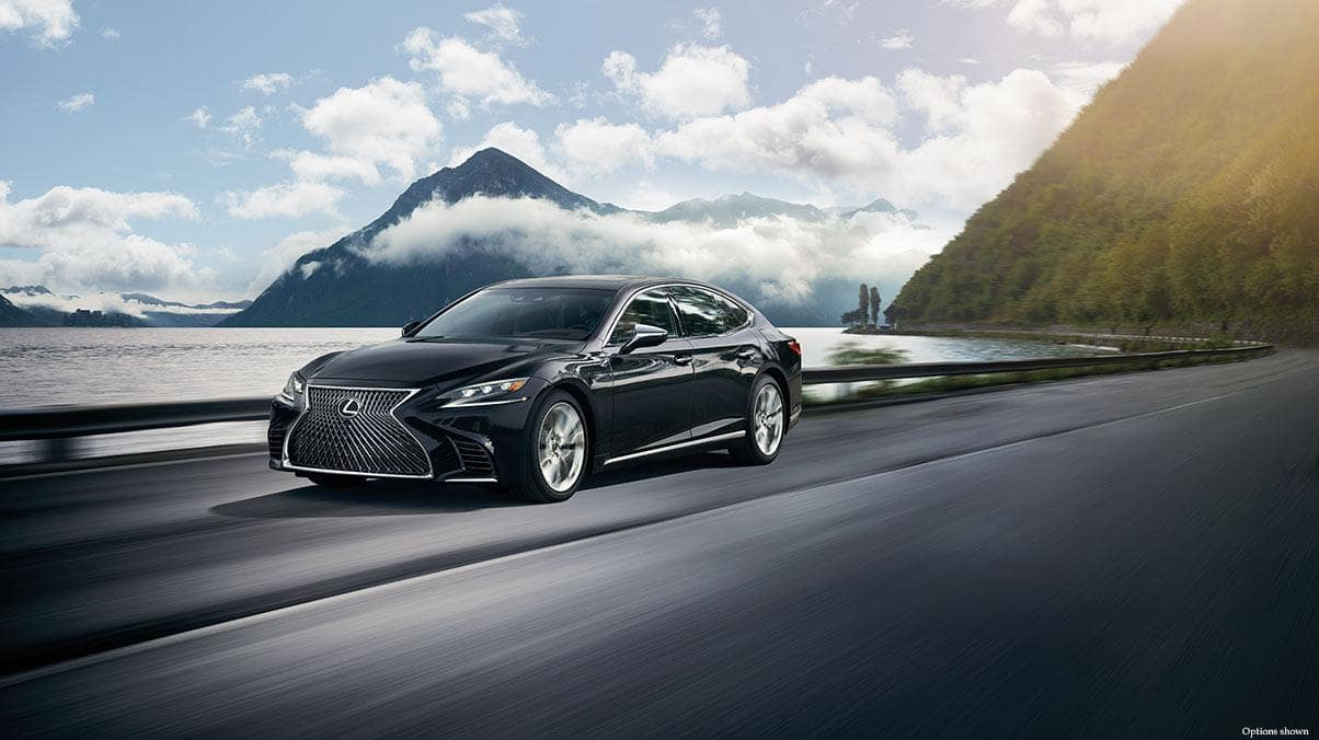 2018 lexus ls in the mountains
