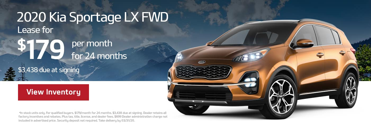 Kia Sportage Lease offer in Cary, NC