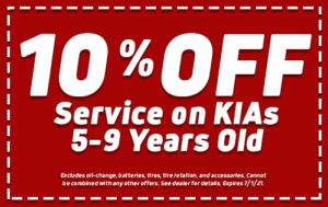 10% Off Service on KIAs 5-9 years old