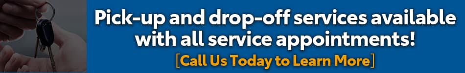 pick-up & drop-off available for service