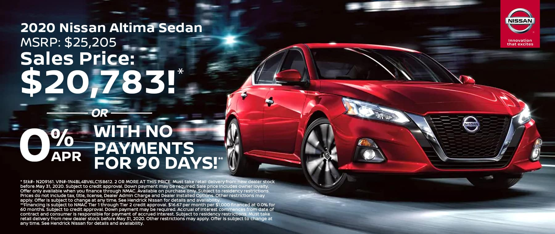 KC Nissan May20 TR New Vehicle Specials ALTIMA 1800x760