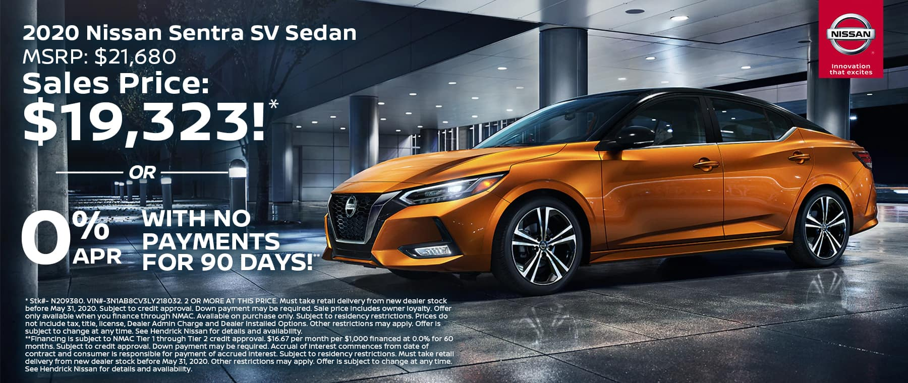 KC Nissan May20 TR New Vehicle Specials SENTRA 1800x760