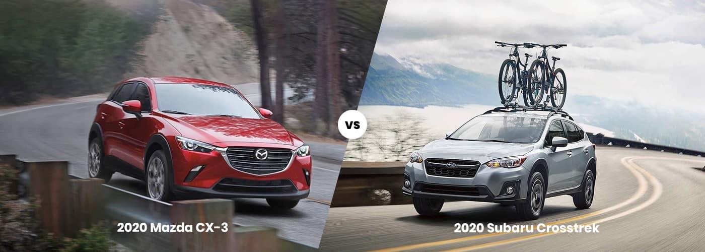 2020 Mazda CX-3 vs Subaru Crosstrek comparison