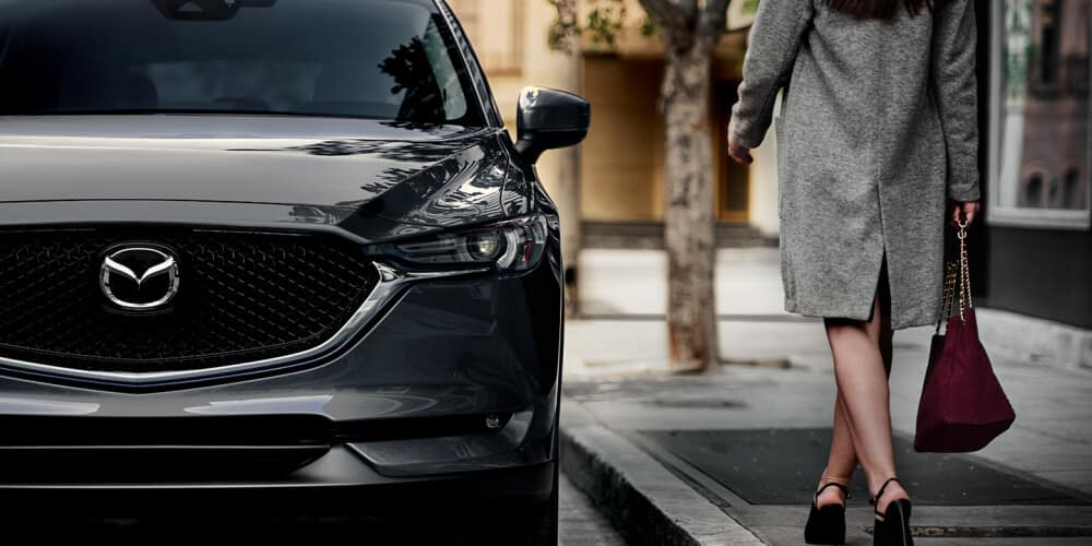 2020 Mazda CX-5 parked near a curb