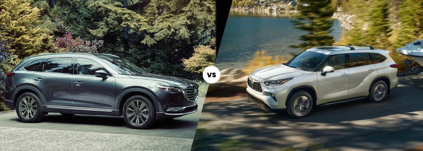2021 Mazda CX-9 vs 2021 Toyota Highlander Comparison