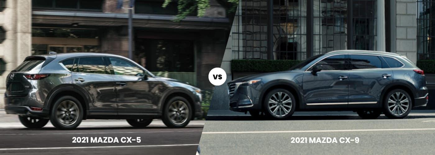2021 Mazda CX-5 vs 2021 Mazda CX-9 Comparison