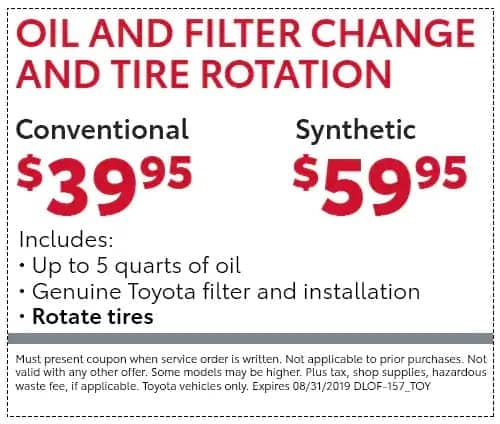 Oil and Filter Change and Tire Rotation coupon