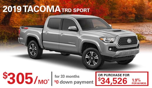 New 2019 Toyota Tacoma TRD Sport 4WD Double Cab