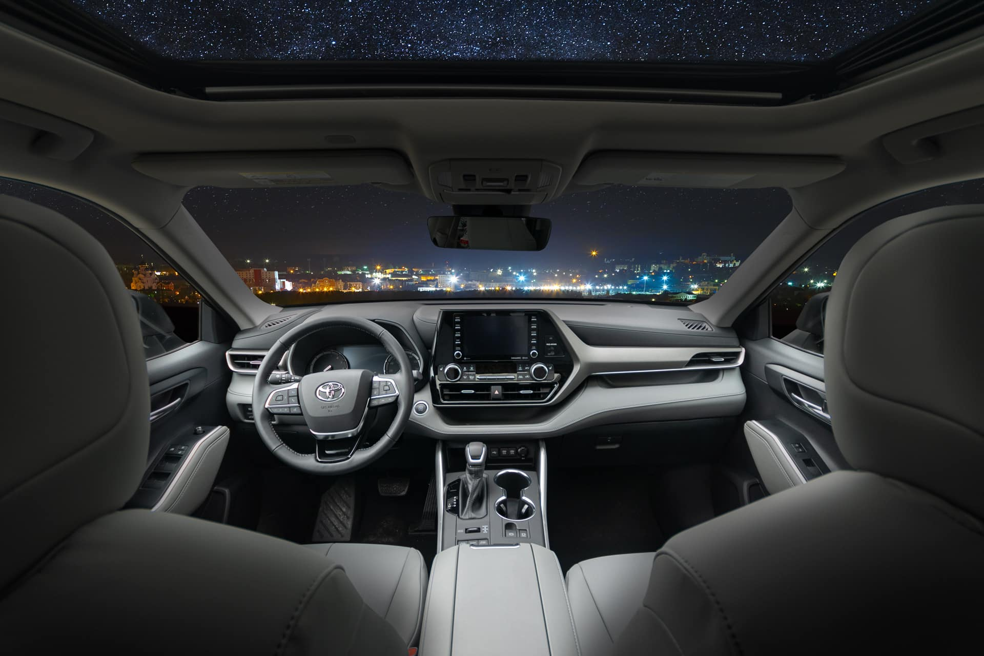 2020 Toyota Highlander interior photograph outside of Holman Toyota dealership
