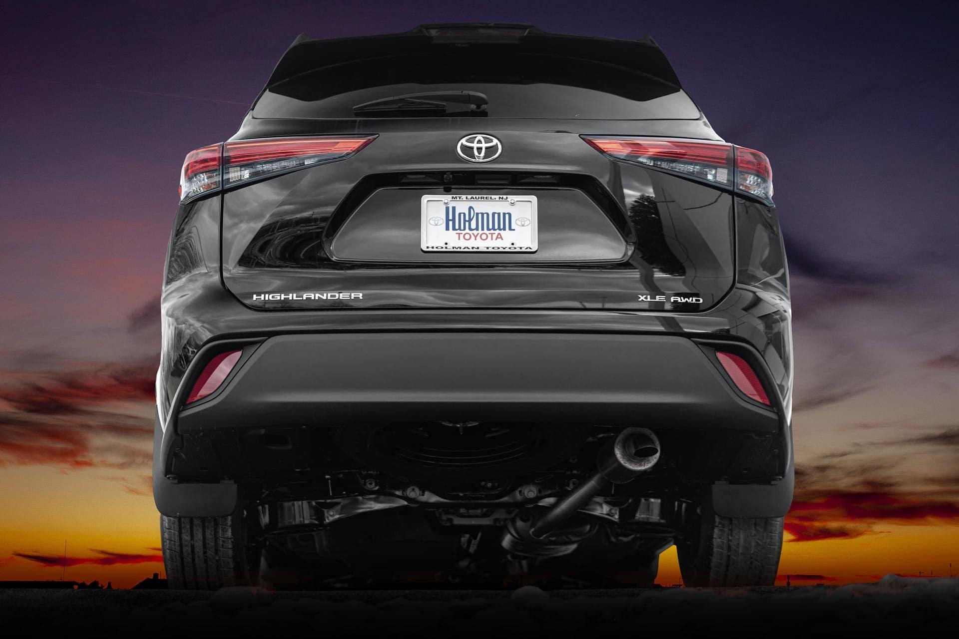 2020 Toyota Highlander rear at Holman Automotive dealership