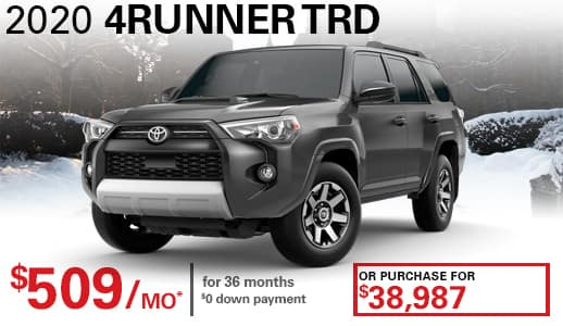 2020 New Toyota 4Runner TRD Off Road 4WD SUV