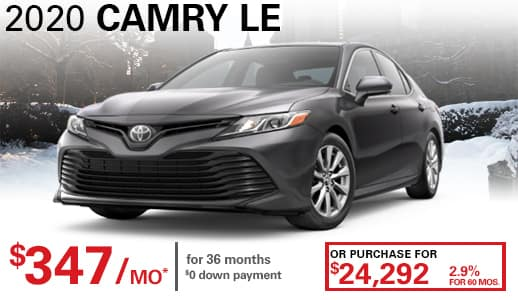 2020 New Toyota Camry LE FWD 4dr Car
