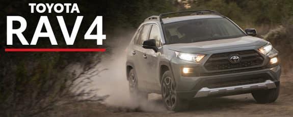 2021 Toyota RAV4 driving on a dirt road