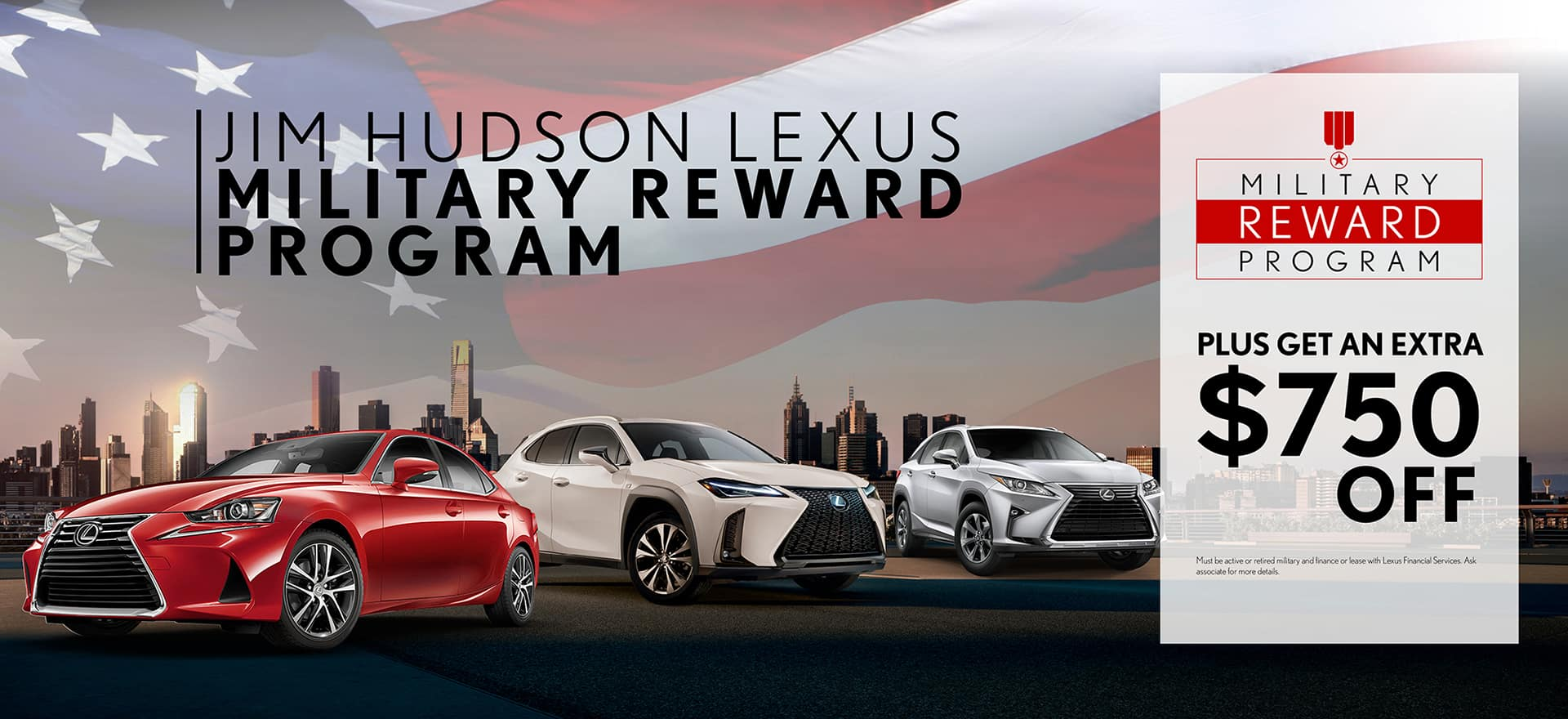 Jim Hudson Lexus >> Military Reward Program Jim Hudson Lexus Columbia