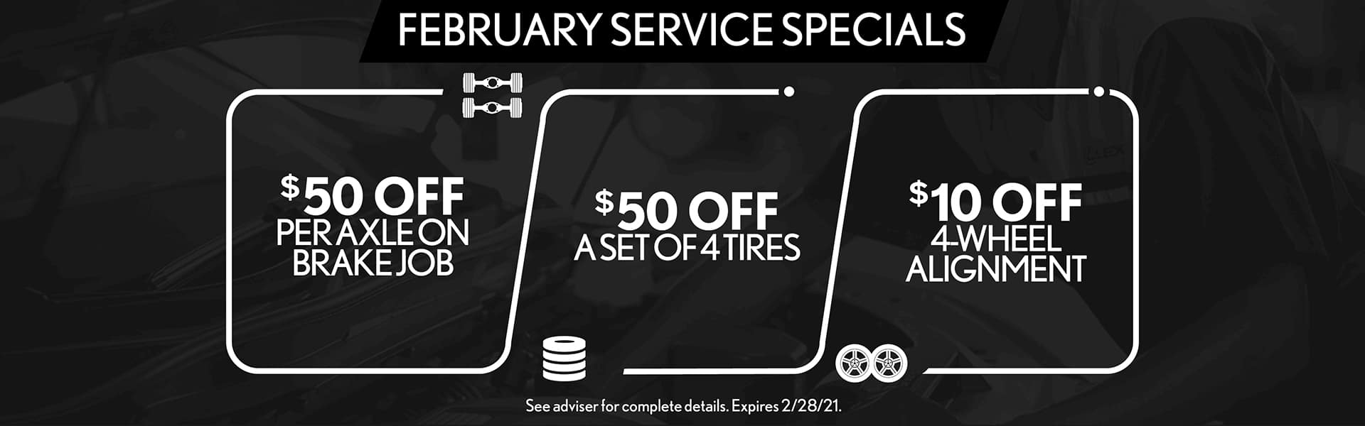 February Service Specials