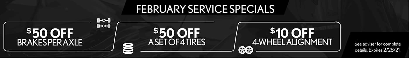 February Service Specials SRP