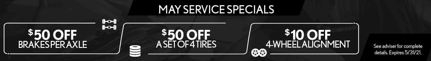 May Service Specials
