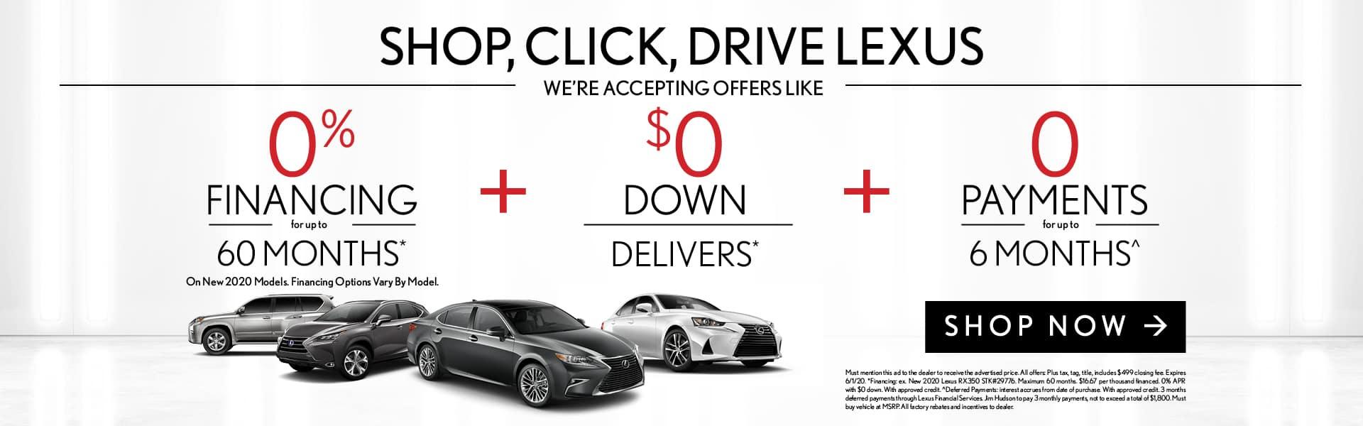 Shop, Click, Drive Lexus