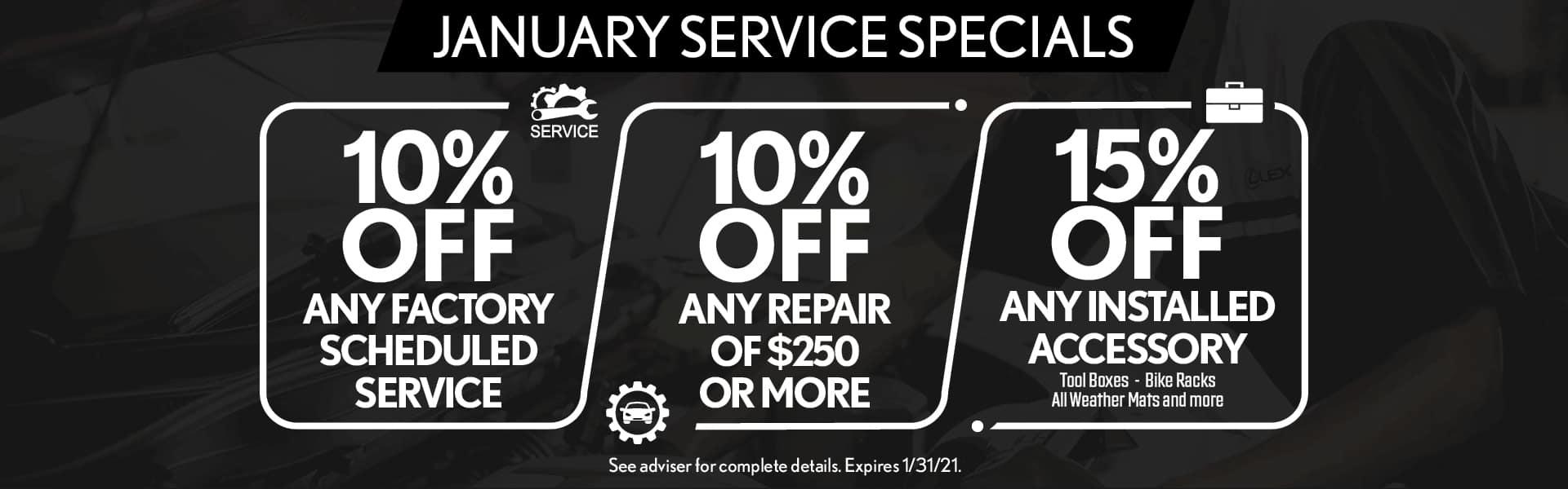 January Service Specials