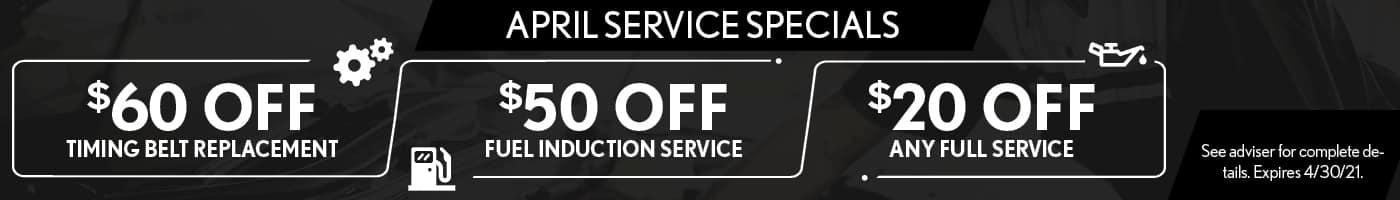 April Service Specials - SRP