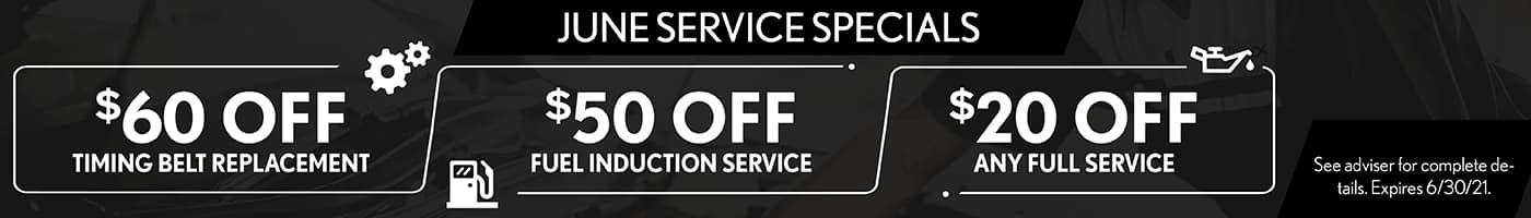 June Service Specials - SRP