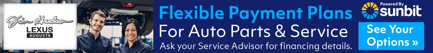 Service and parts financing banner