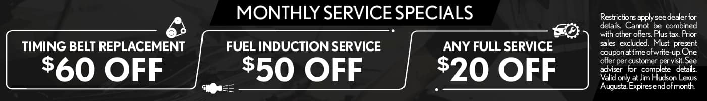 Monthly Service Specials - SRP