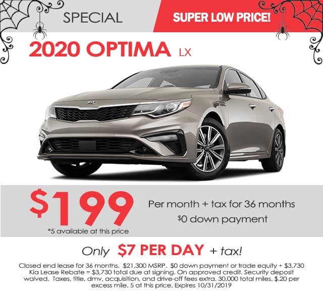 New 2020 Kia Optima LX FWD 4D Sedan
