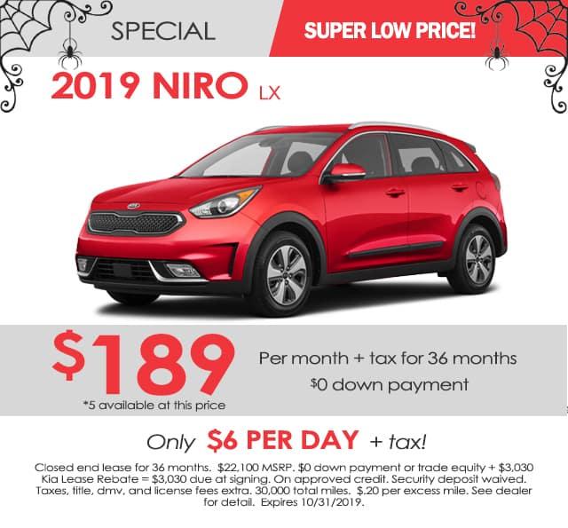New 2019 Kia Niro LX FWD 4D Sport Utility