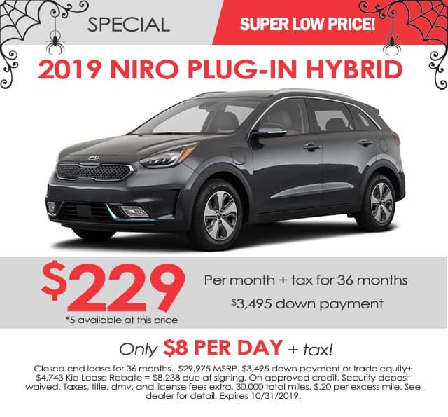 New 2019 Kia Niro Plug-In Hybrid LX FWD 4D Sport Utility
