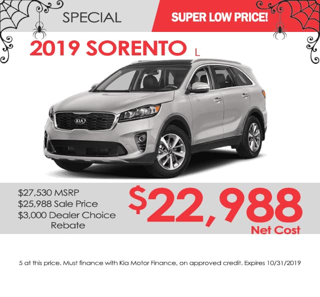 New 2019 Kia Sorento L FWD 4D Sport Utility