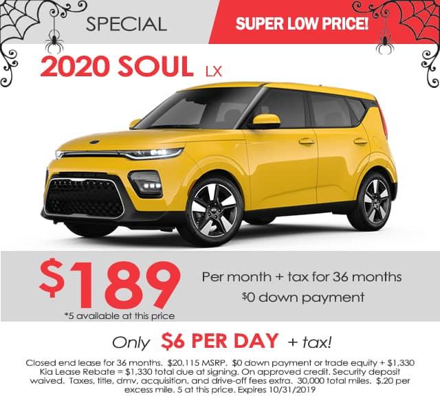 New 2020 Kia Soul LX FWD 4D Hatchback