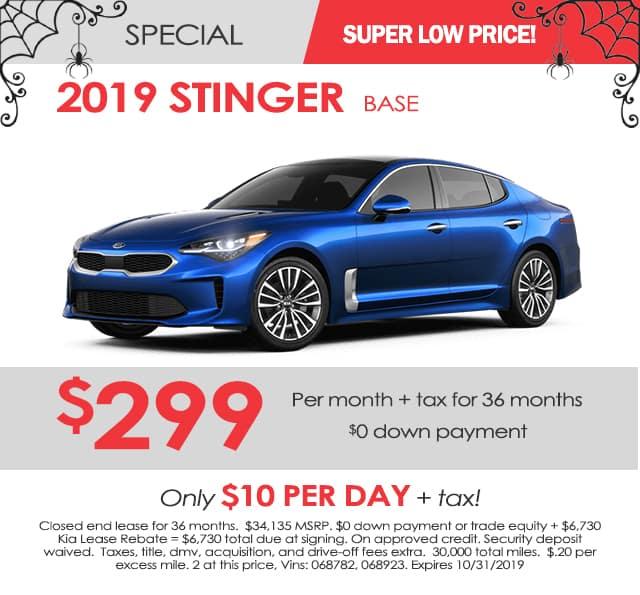 New 2019 Kia Stinger Base RWD 4D Hatchback