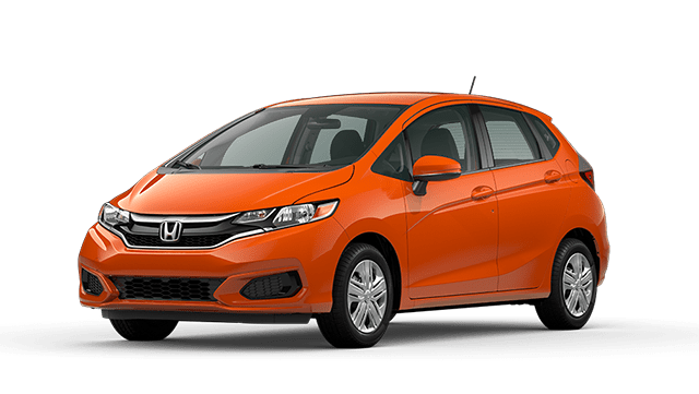 Orange 2020 Honda Fit