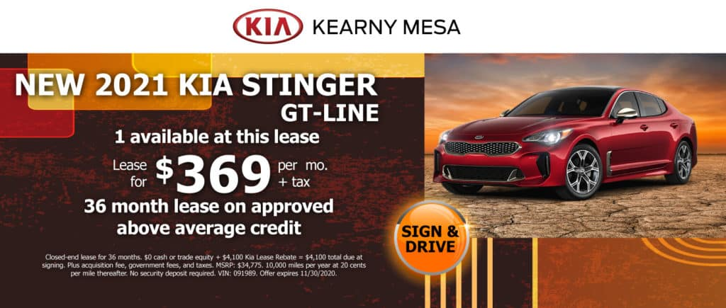 2021 KIA STINGER GT-LINE