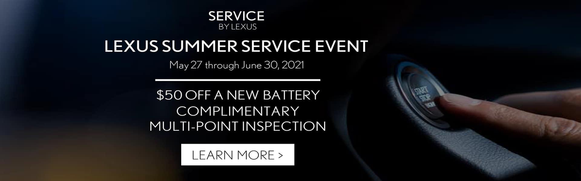 Lexus Summer Service Banner