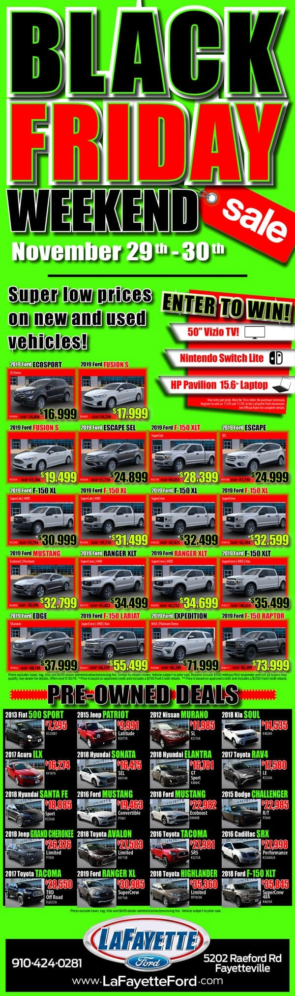 Black Friday Weekend Sale Nov 29 And 30 Lafayette Ford