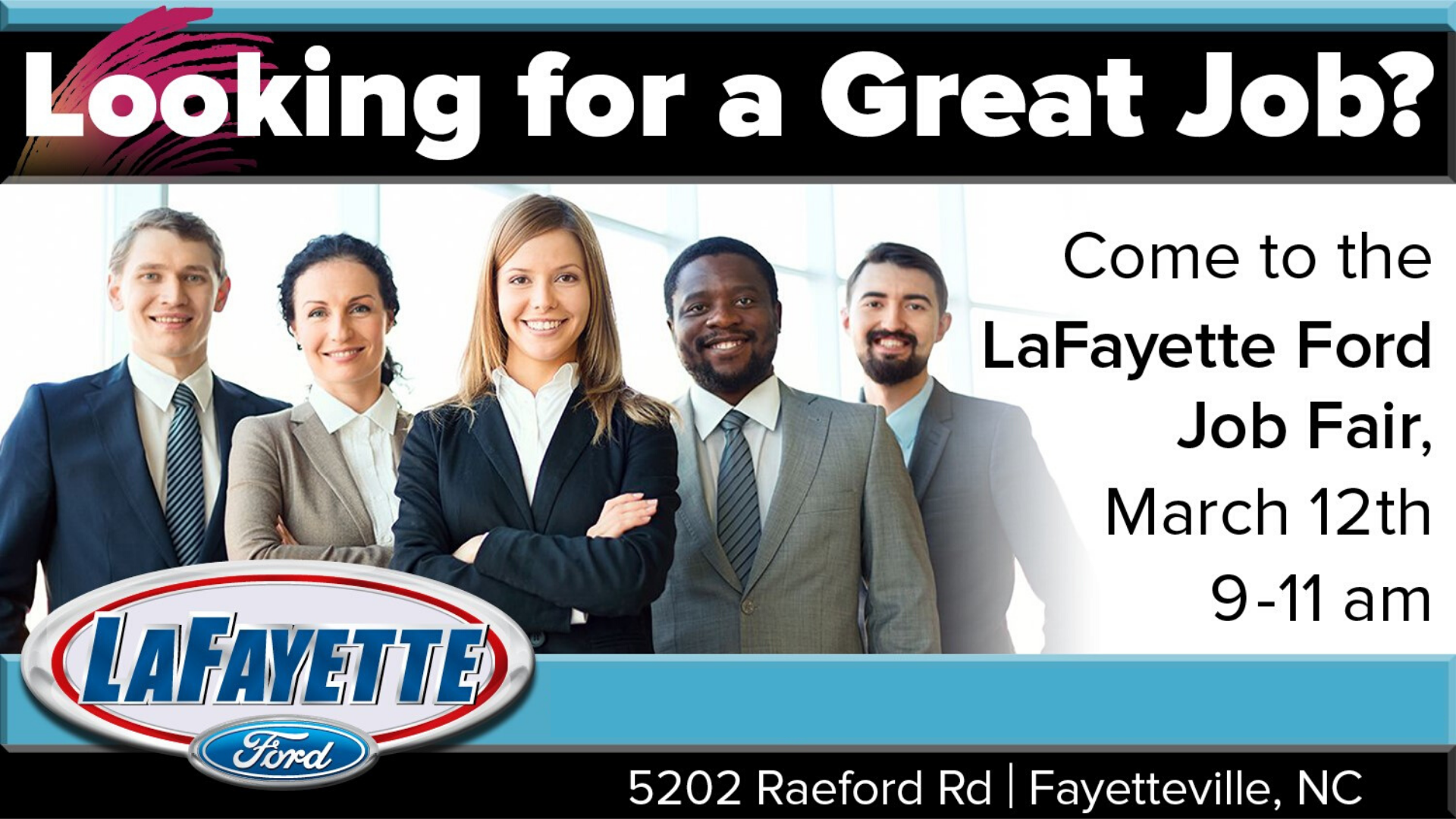 Lafayette Ford Job Fair March 12 From 9 11 Am Lafayette Ford