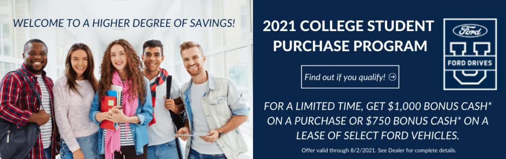 2021 College Student Purchase Program